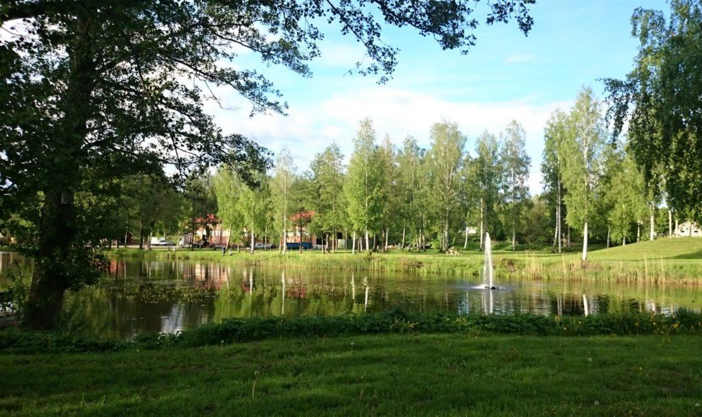 スウェーデン風景水辺